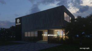 建築CG 夜間