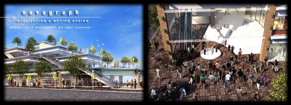 フォトリアル建築パース / 都市計画