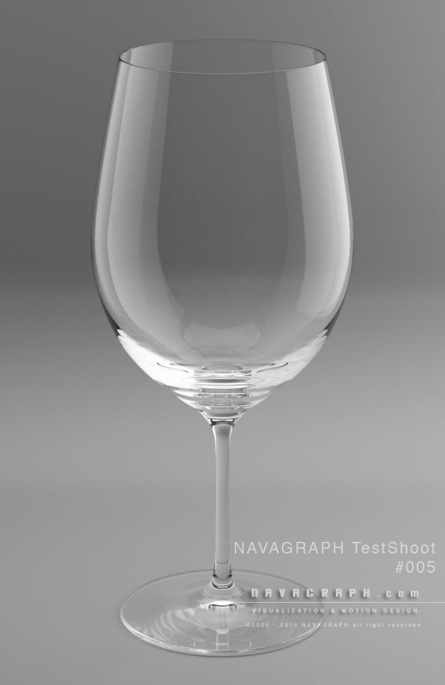 フォトリアルCG-ワイングラス/ガラス検証